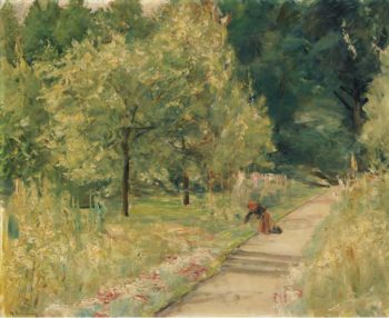 Gardener in the Wannsee Garden 1923 24 | Max Liebermann | oil painting