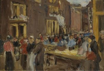 Jewish Quarter in Amsterdam 1905 | Max Liebermann | oil painting