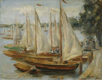 Sailing Boats on Wannsee Lake 1922 | Max Liebermann | oil painting