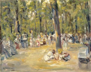 Scene at the Park | Max Liebermann | oil painting
