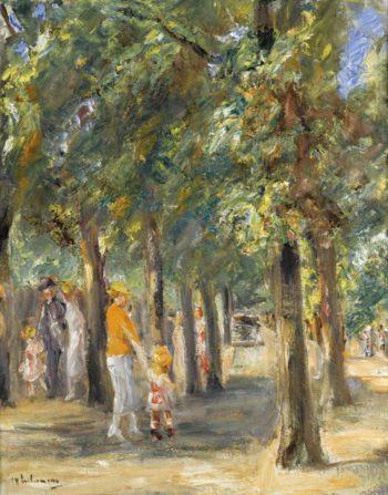 Scene in Tiergarten 1927 | Max Liebermann | oil painting