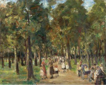 Strollers in Tiergarten 1925 | Max Liebermann | oil painting