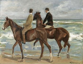 Two Riders on the Beach | Max Liebermann | oil painting