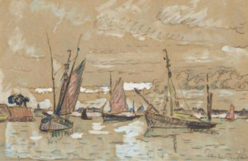 Boats of Honfleur 1922 | Paul Signac | oil painting