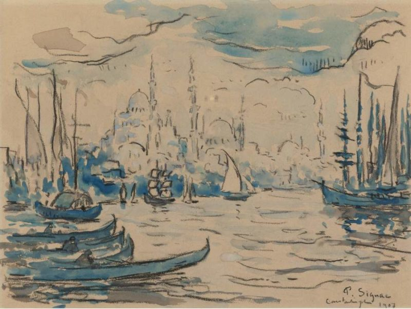Constantinople 1907   Paul Signac   oil painting