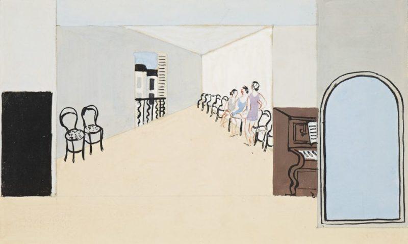 Stage design for Diaghilev's ballet