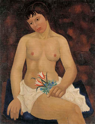 Nude with Tulips | Christopher Wood | oil painting