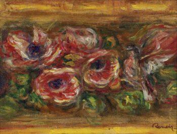 Anemones 02 | Pierre Auguste Renoir | oil painting