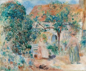 At the Garden in Bretagne 1886 | Pierre Auguste Renoir | oil painting