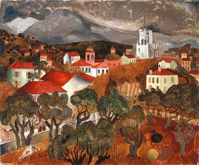 Landscape near Vence | Christopher Wood | oil painting