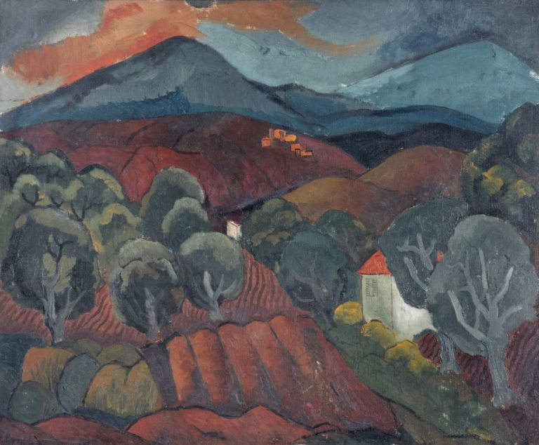 Landscape at Vence | Christopher Wood | oil painting