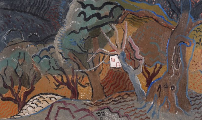 Landscape at Vence - Little White House | Christopher Wood | oil painting