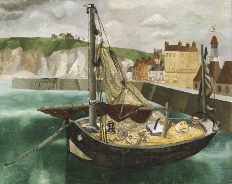 A Fishing Boat in Dieppe Harbour | Christopher Wood | oil painting