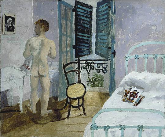 Nude in a bedroom