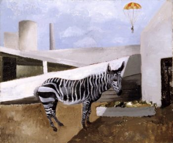 Zebra and Parachute | Christopher Wood | oil painting