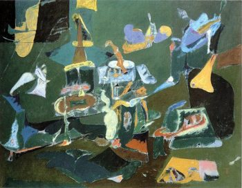 Dark Green Painting | Arshile Gorky | oil painting