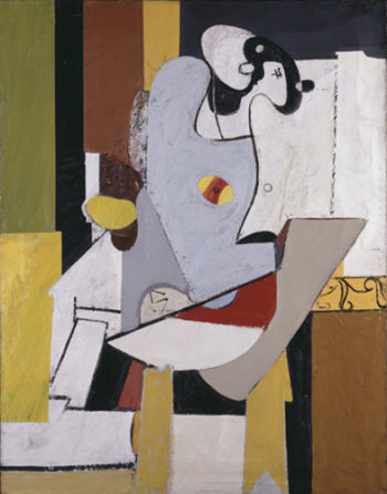 Blue Figure in a Chair | Arshile Gorky | oil painting