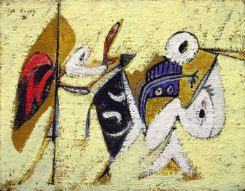 Battle at Sunset with the God of Maize (Composition No. 1) | Arshile Gorky | oil painting