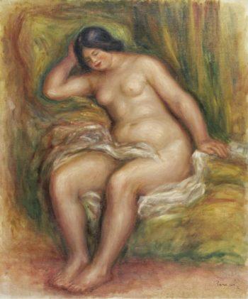 Seated Nude 1910 | Pierre Auguste Renoir | oil painting
