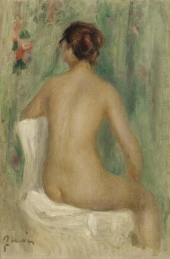 Seated Nude Seeing from the Back 1895 | Pierre Auguste Renoir | oil painting