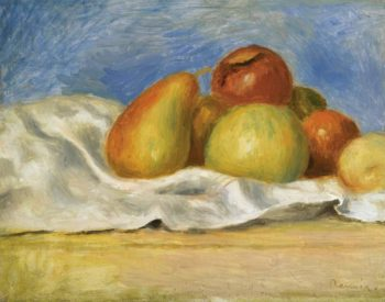 Still Life with Apples and Pears 1890 | Pierre Auguste Renoir | oil painting