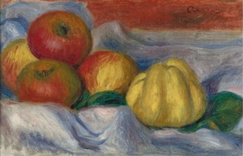 Still Life with Apples and Quince | Pierre Auguste Renoir | oil painting