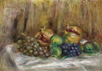 Still Life with Granates Figs and Grapes | Pierre Auguste Renoir | oil painting