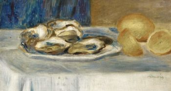 Still Life with Lemons and Oysters 1900 | Pierre Auguste Renoir | oil painting