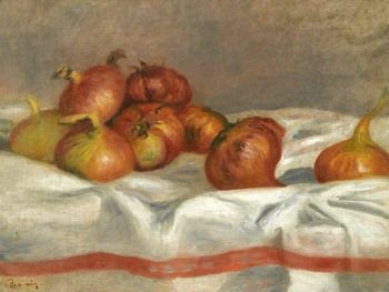Still Life with Onions and Tomatoes 1912 | Pierre Auguste Renoir | oil painting