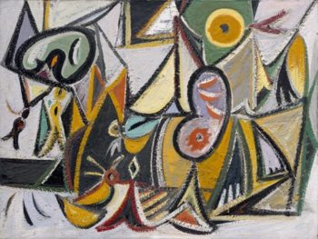 Enigmatic Combat | Arshile Gorky | oil painting