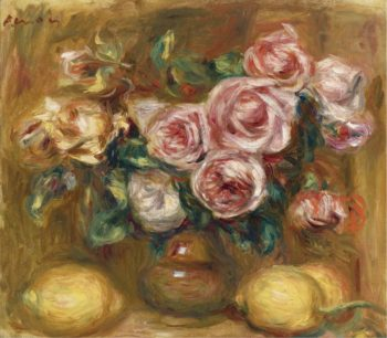 Still life with Roses and Lemons | Pierre Auguste Renoir | oil painting