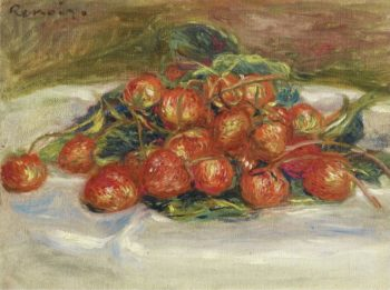Still Life with Strawberries | Pierre Auguste Renoir | oil painting