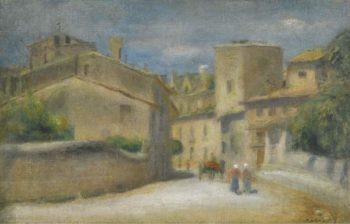 Street of Villeneuve Les Avignon 1905 | Pierre Auguste Renoir | oil painting
