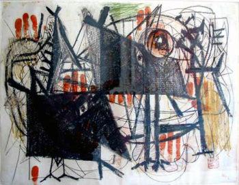 Hitler invades Poland | Arshile Gorky | oil painting