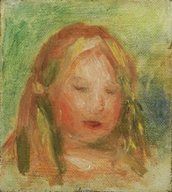 Study of Child`s Head (Coco) | Pierre Auguste Renoir | oil painting