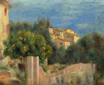 The Artist`s House in Cagnes | Pierre Auguste Renoir | oil painting
