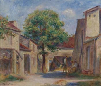 The Farm Yard at Essoyes | Pierre Auguste Renoir | oil painting