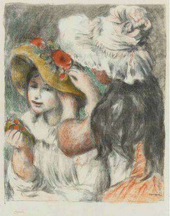 The Hatpin 1898 | Pierre Auguste Renoir | oil painting