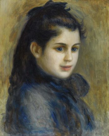 The Head of Young Girl 1875 | Pierre Auguste Renoir | oil painting