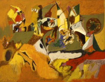 Golden Brown Painting | Arshile Gorky | oil painting