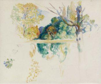 The Lake (sketch) | Pierre Auguste Renoir | oil painting