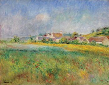 The Village of Bonnecourt | Pierre Auguste Renoir | oil painting