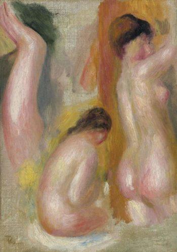 Three Bathers 1895 | Pierre Auguste Renoir | oil painting