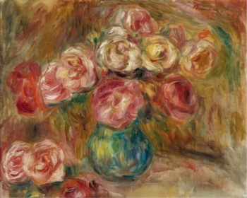 Vase with Flowers 01 | Pierre Auguste Renoir | oil painting