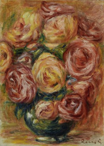 Vase with Roses | Pierre Auguste Renoir | oil painting