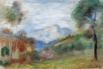 View of the Outskirts of Cagnes 1905 | Pierre Auguste Renoir | oil painting