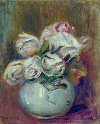 White Roses | Pierre Auguste Renoir | oil painting