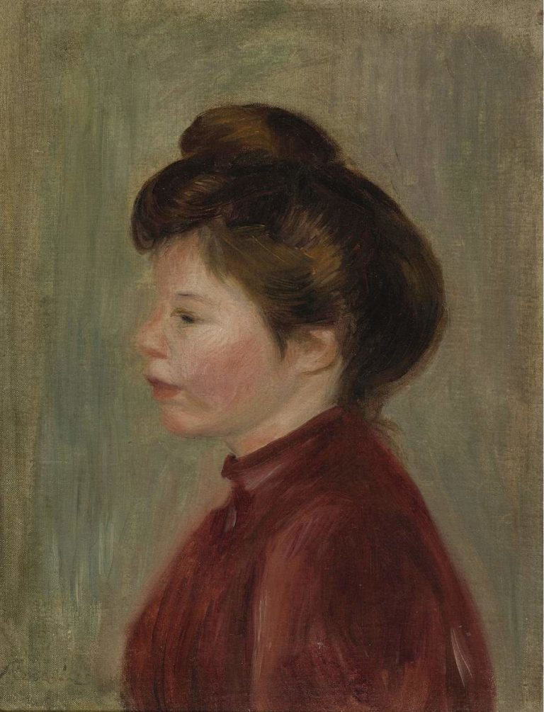 Woman`s Profile 1900 | Pierre Auguste Renoir | oil painting