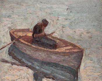 Figure in a rowing boat | Emmanuel Zairis | oil painting