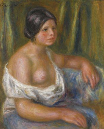 Woman in Blue | Pierre Auguste Renoir | oil painting